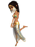 Toon Figure Belly Dancer femminile Immagine Stock