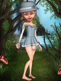 Toon Figure féminin Image stock