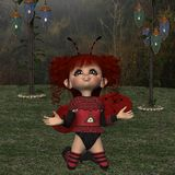 Toon Figure - fantasifel Royaltyfri Bild