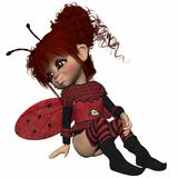 Toon Figure - Lady Bug Royalty Free Stock Photo