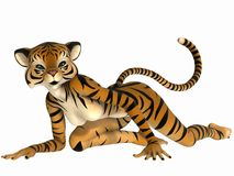 Toon Figure - Tiger Royalty Free Stock Photo