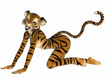 Toon Figure - Tiger Royalty Free Stock Images