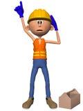 Toon Figure Worker Arkivfoton