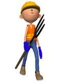 Toon Figure Worker Arkivfoto