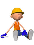 Toon Figure Worker Royalty Free Stock Photos
