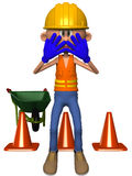 Toon Figure Worker Royalty Free Stock Photo