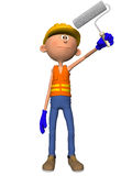 Toon Figure Worker Stock Image