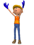 Toon Figure Worker Stock Images