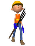 Toon Figure Worker Stock Photo