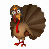 Toon Football Turkey Royalty Free Stock Image