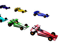 Toon Formula One. 3d Formula stock illustration