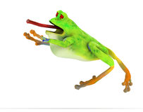 Toon frog jumping Royalty Free Stock Photography