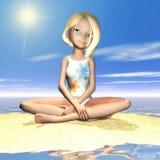 Toon Girl Foto de Stock