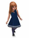 Toon girl in Navy Dress Royalty Free Stock Image