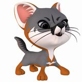 Toon Grey Fox Royalty Free Stock Photos