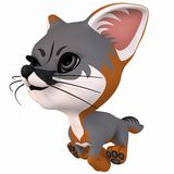 Toon Grey Fox Royalty Free Stock Images