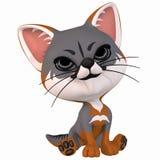 Toon Grey Fox Stock Image