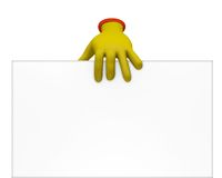 Toon hand holding paper Royalty Free Stock Image