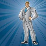 Toon Hero Business Man Στοκ φωτογραφία με δικαίωμα ελεύθερης χρήσης