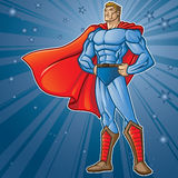 Toon Hero. Generic superhero figure standing proud.  Layered & easy to edit. See portfolio for simular images Stock Photography