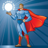 Toon Hero. Generic superhero figure standing proud.  Layered & easy to edit. See portfolio for simular images. Place your logo Royalty Free Stock Image