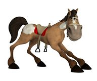 Toon horse 1. 3D render of a cute toon horse stock illustration
