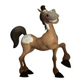 Toon horse 2. 3D render of a cute horse Royalty Free Stock Photos