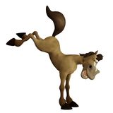 Toon horse 3. 3D render of a cute jumping horse Stock Image