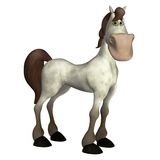 Toon horse 4. 3D render of a cute white toon horse vector illustration