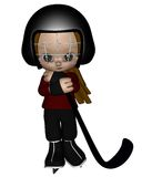 Toon Kid Ice Hockey Player - 1 Royalty Free Stock Images
