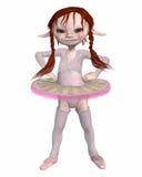 Toon-Kobold-Ballerina Stockfoto