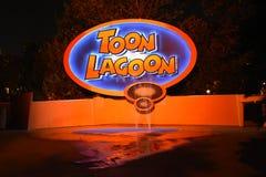 Toon Lagoon i universella studior i Orlando, FL Fotografering för Bildbyråer