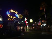 Toon Lagoon på universella studior, Orlando, FL Arkivbild