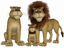 Toon Lion Royalty Free Stock Image
