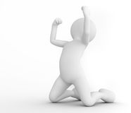 Toon man celebrating victory. Win, winner concept. Royalty Free Stock Images