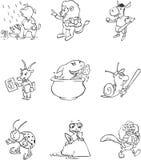 Toon Mascots Stock Fotografie