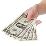 Toon me het geld, 1 dollar Royalty-vrije Stock Foto