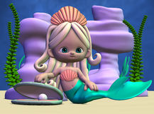 Toon Mermaid Royalty Free Stock Photos