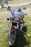 Toon motorfietsen NARVABIKE op het grondgebied van vesting van 18 Juli, 2010 in Narva, Estland Stock Fotografie