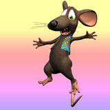 Toon mouse. Very cute mouse in cartoon style with various expressions and situations Stock Photography