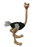 Toon ostrich 1 Royalty Free Stock Photos