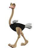 Toon ostrich 2 Stock Photo