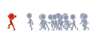 Toon people running, competition Royalty Free Stock Photography