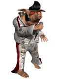 Toon Pig - het Broodje van de Rots n Royalty-vrije Stock Afbeelding
