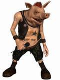 Toon Pig - Punker Royalty-vrije Stock Afbeeldingen