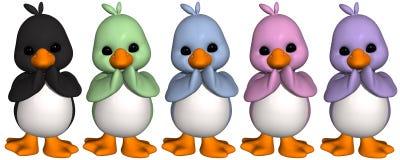 Toon-Pinguin lizenzfreie abbildung