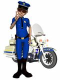 Toon Police Officer Royalty Free Stock Photo