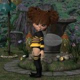 Toon postać - pszczoła Obraz Stock