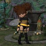 Toon postać - pszczoła Zdjęcia Royalty Free