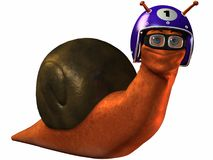 Toon Racing Snail. 3D Render of an Toon Racing Snail Stock Photography